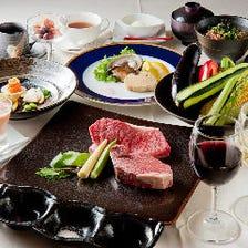 ステーキの量や銘柄を選択可能です