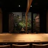 【銀座/記念日】小庭のある、癒しの和の空間。4名様~10名様。