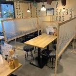 【テーブル席】友人・家族と楽しくお食事できます!