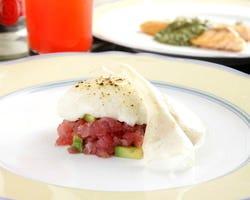 グリル三昧(ざんまい) 前菜・串焼・サラダ゙・鯛のソテー・フィレステーキ・デザート・コーヒー