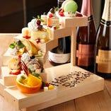 記念日や誕生日会なら事前予約で豪華なデザート盛り