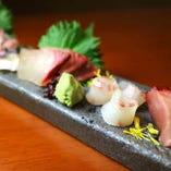 身の引き締まったとびきり新鮮な鮮魚をご用意しております。