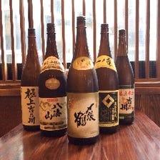 新鮮魚貝に合う日本酒をたのしめます