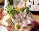旬の天然地物の魚をお刺身で カマスの炙り刺し 300円より