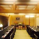 【個室(梅・松)】最大40名様までご利用可能なお座敷テーブル個室