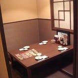 4名様個室・6名様個室完備☆少人数のプライベートスペース♪