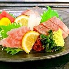 本日鮮魚四点盛り
