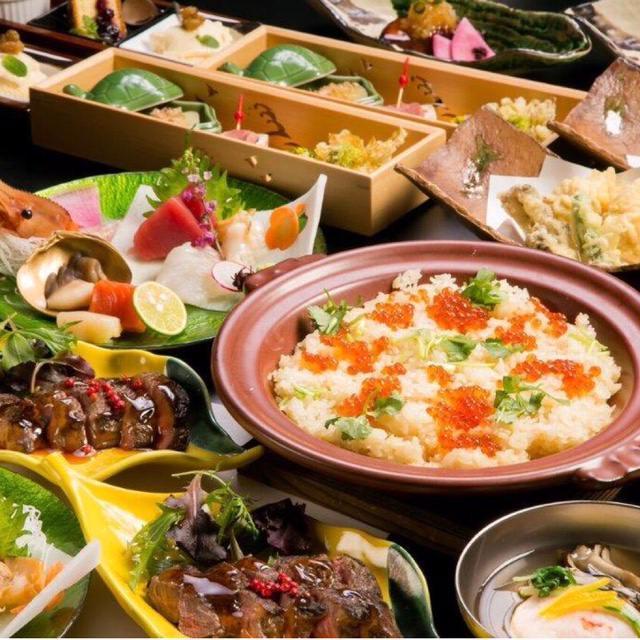 【海】コース:お料理9品8,800円(税込) §豪華海鮮づくしと、道産牛のコース§