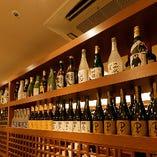 <豊富なドリンク> 焼酎・日本酒・ワインなど。京都の地酒も充実