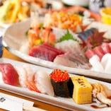 【寿司宴会】 寿司や刺身を堪能できるコースで楽しいひととき◎