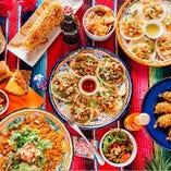色とりどりなメキシコ料理