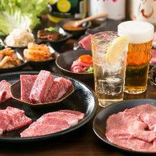 和牛焼肉と近江京野菜をコースで満喫