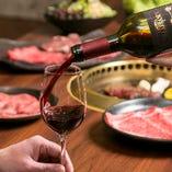 40種のワインで銘柄和牛とのマリアージュをお楽しみください。