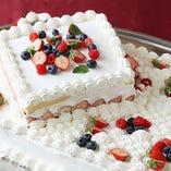 パティシエが作る本格ケーキ