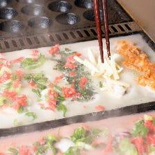 メドレーたこ焼き(ノーマル、キムチ、しそ、チーズ4種類)