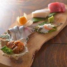 新鮮食材、旬の味覚を使った一品料理