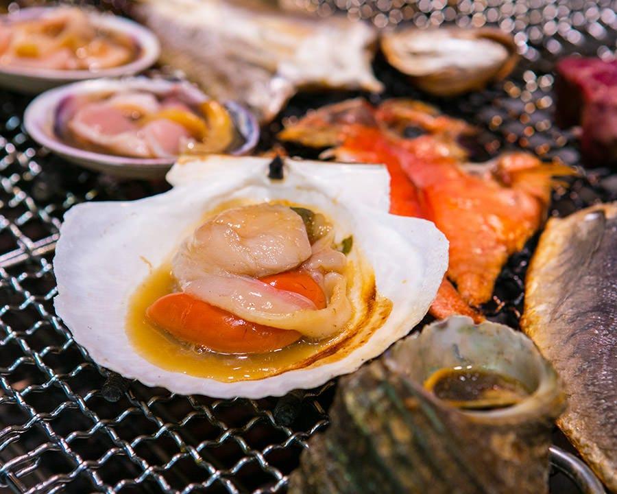 熟成魚の塩焼き 貝焼 自家製一夜干