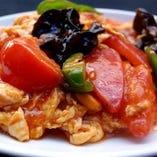 完熟トマトと玉子の炒め