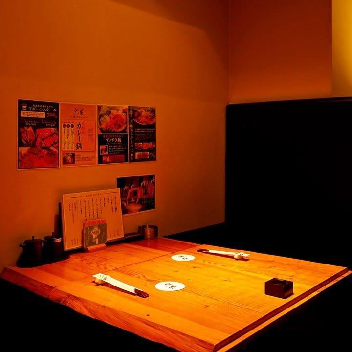 接待利用にも最適な個室完備