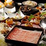 黒豚ネギしゃぶコースは鹿児島料理も楽しめる盛りだくさんの内容