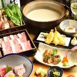 三河豚と有機野菜の豆乳しゃぶしゃぶ会席<竹>5,000円⇒4,500円