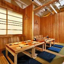 吉野杉の温もりあふれる和の空間