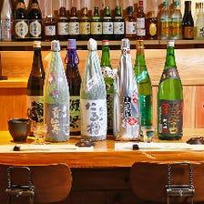 奈良をはじめ、全国各地の地酒が多数