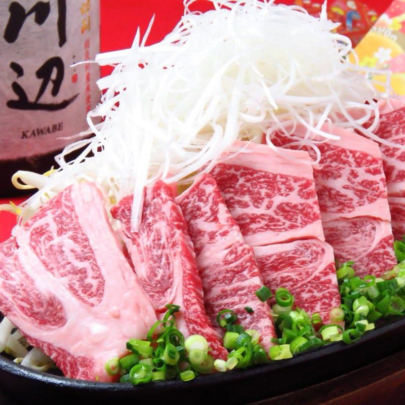 阿蘇あか牛 カルビ鉄板焼 1,518円(税込)