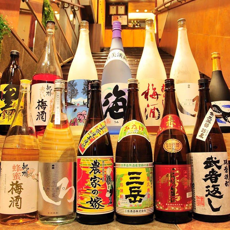 本格焼酎、地酒も種類豊富にご用意しています♪