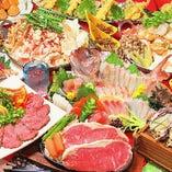 えくぼの【忘年会】コース!豚しびれしゃぶしゃぶなどの選べる鍋+蒸し牡蠣や牛ステーキの豪華11品+飲放付