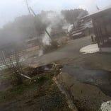 熊本小国町岳湯の地熱で蒸しあげた絶品『地熱豚足』
