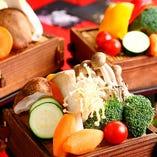 野菜ときのこのよくばりセイロ蒸し