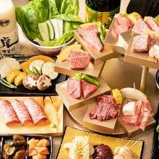 【大切な方の誕生日・二人の記念日に】名物!神戸牛8段盛含む インスタ映えサプライズプラン  +1500円で飲み放題も◎