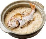 【鯛の釜めし】徳島 鳴門鯛を使用した自慢料理