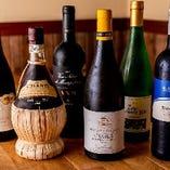 ワインも20種程度常備