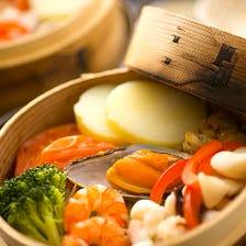 海の幸と温野菜