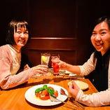 【1階テーブル個室】気軽な女子会、飲み会に使えるプライベート空間(2~5名様×7部屋)
