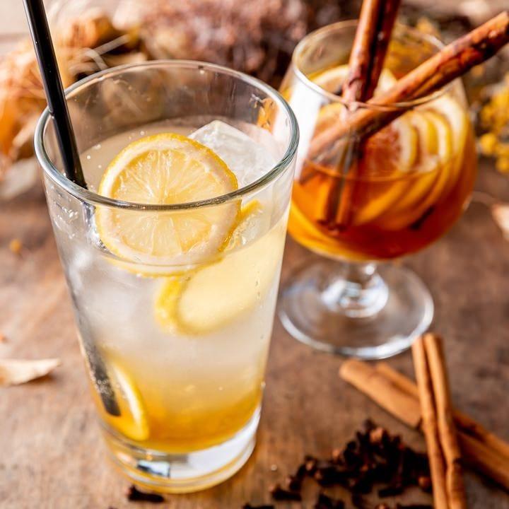 店内漬けのはちみつレモンシロップは甘みと酸味のバランスが絶妙
