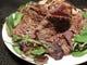 肉の鬼ヶ島 500gの肉をフレンチフライの上に山盛りに!