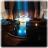 「ステージルーム」多彩な照明で異空間を演出します。