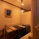 【個室/2~6名様】暖簾で仕切った和やかな小空間で楽しいひとときを