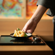 京都産の七味、麩、湯葉、抹茶に野菜