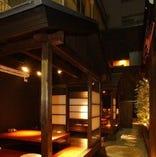 当店の代名詞。 京都の茶室を彷彿させる「完全離れ別邸」