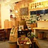 ◆木のぬくもりたっぷりの店内◆