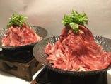 お出汁が選べる姫牛一人鍋! 当店おすすめメニューです。