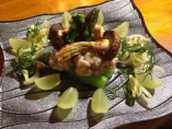 松茸と白子、シャインマスカットの冷菜