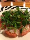 太刀魚と西瓜、ミントとクレソンのサラダ 1000円です