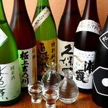 日本酒は常時30種類ほどの品揃え