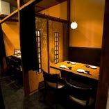 隠れ家のようなテーブル席半個室(~4名様×2部屋)