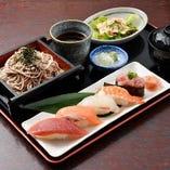 寿司5貫とそば or うどんセット